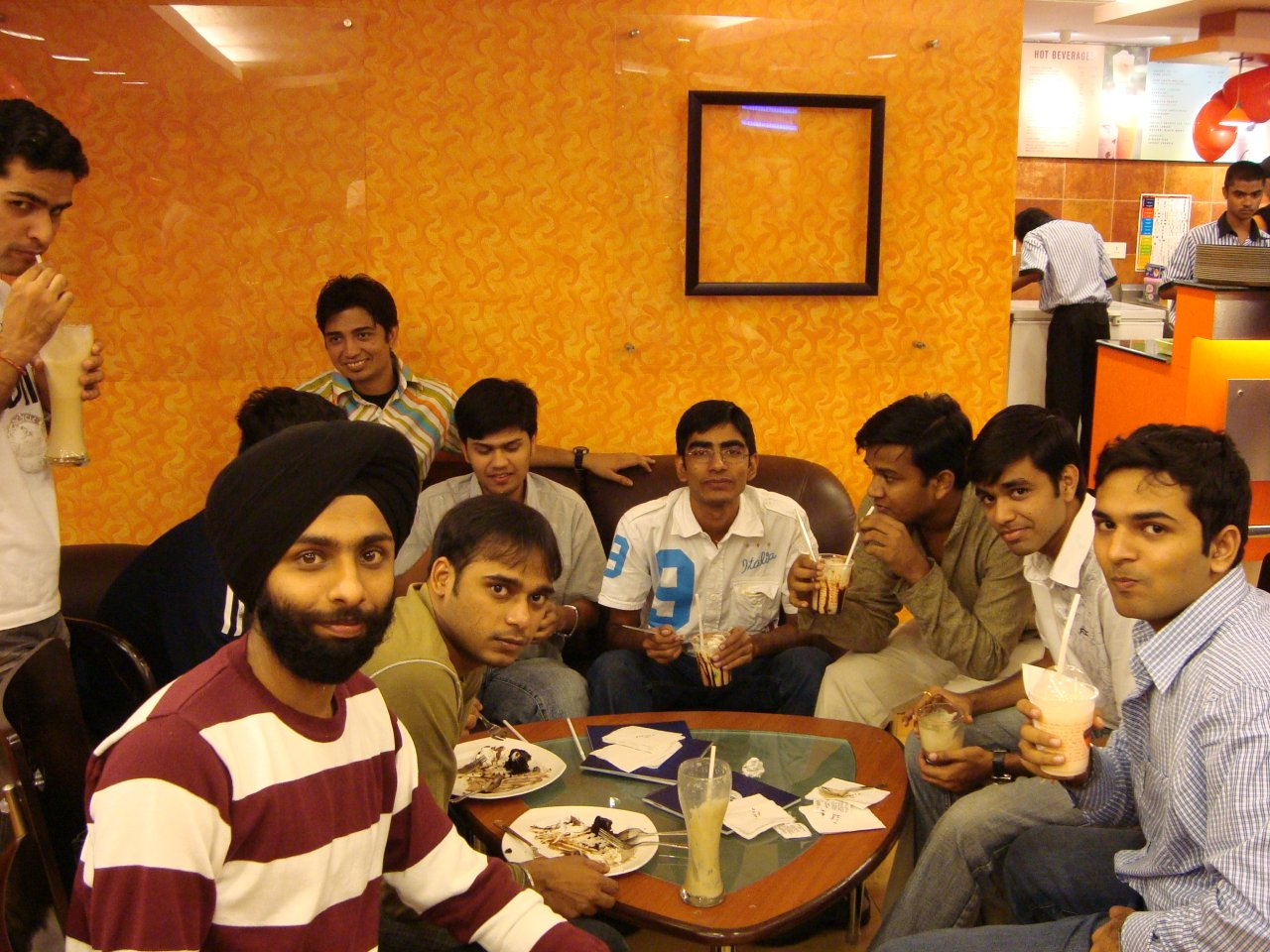 Kulbir Saini Birthday Party at Barista