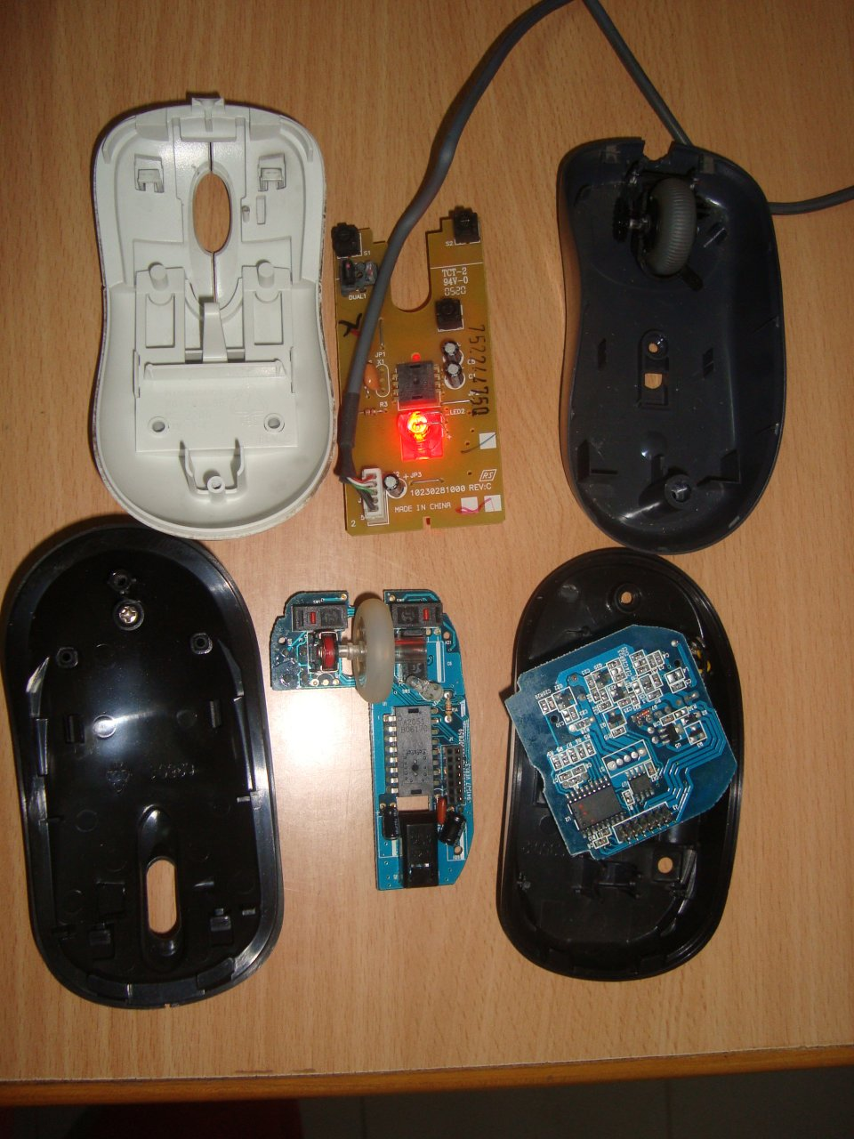 Microsoft Wired and Wireless Mouse