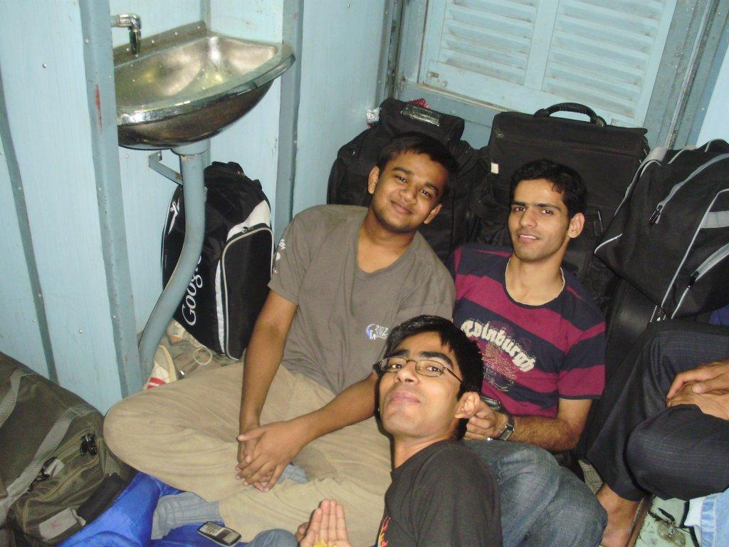Me (Black), Somani (Grey), Deepak (Strips)
