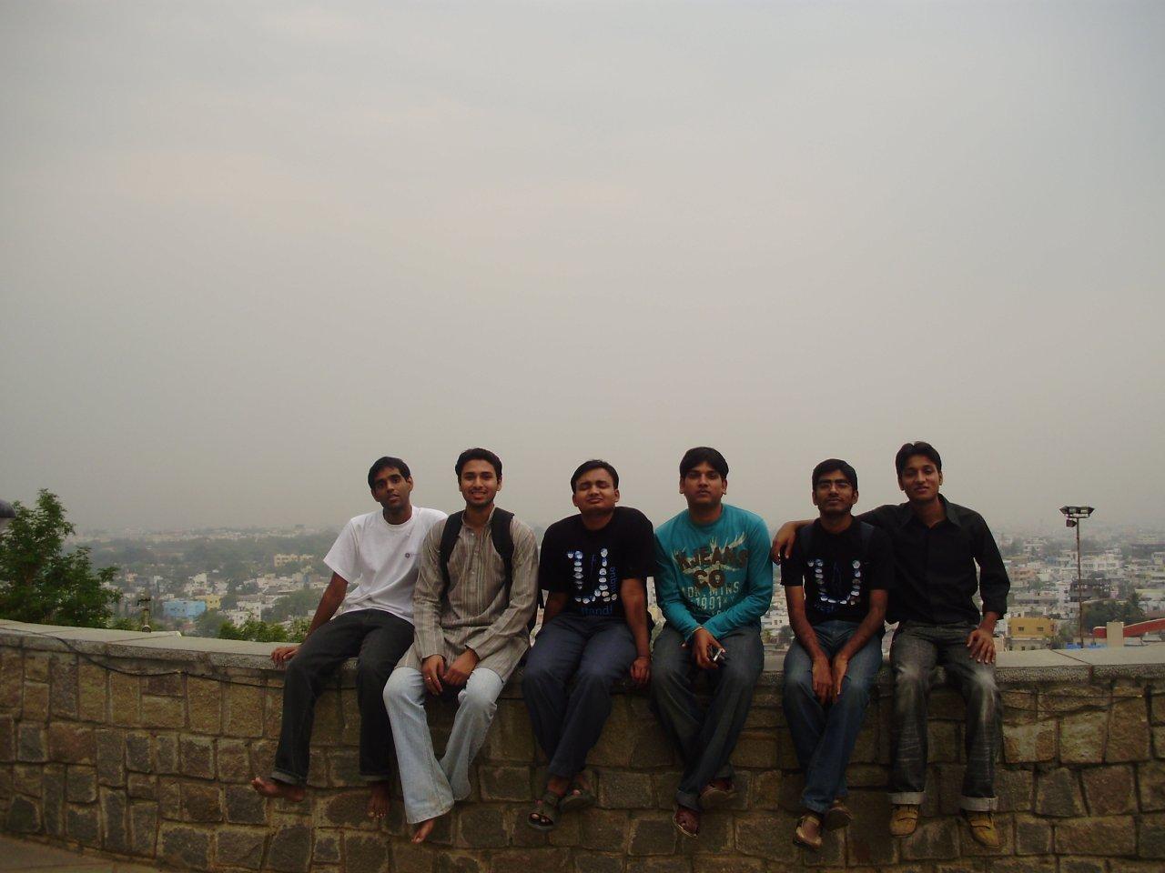 Sashidhar, Aditya, Yogendra, Aakash, Me and Nitin